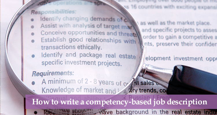How to write a competency-based job description