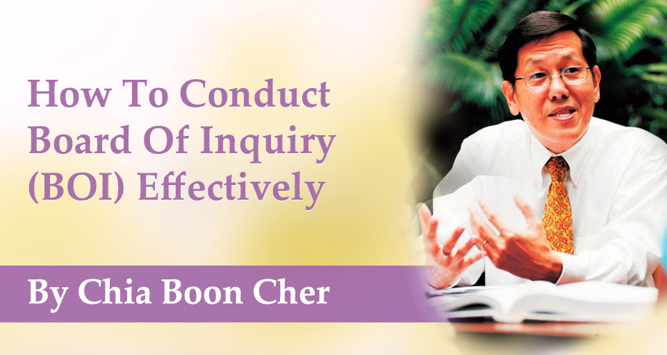 How To Conduct Board Of Inquiry (BOI) Effectively