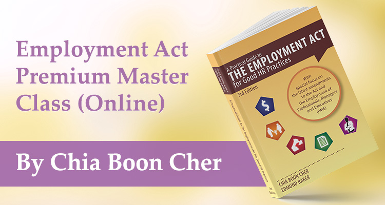Chia Boon Cher - Employment Act Online Master Class